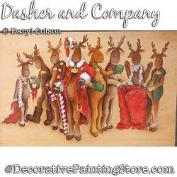 Dasher and Company (Reindeers) Painting Pattern PDF DOWNLOAD - Daryl Colson