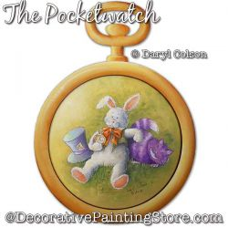 The Pocketwatch (Bunny Rabbit) Painting Pattern PDF DOWNLOAD - Daryl Colson