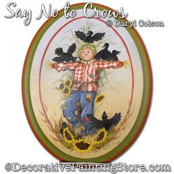 Say No to Crows (Scarecrow) Painting Pattern PDF DOWNLOAD - Daryl Colson