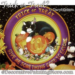 Trick or Treat (Black Cat / Pumpkin) Painting Pattern PDF DOWNLOAD - Daryl Colson