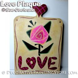 LOVE Plaque Painting Pattern PDF Download - Susan Cochrane