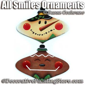 All Smiles Ornaments ePattern - Susan Cochrane