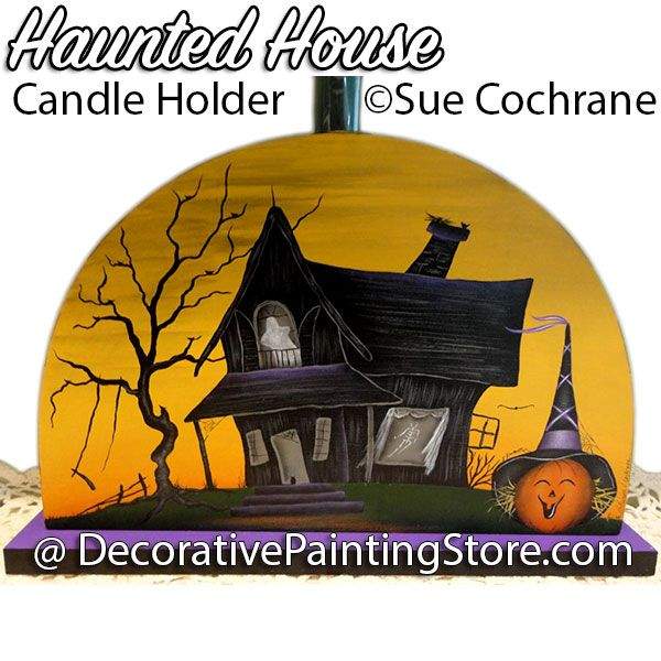 Haunted House Candle Holder ePattern - Susan Cochrane