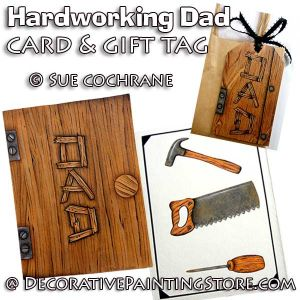 Hardworking Dads Card and Tag ePattern - Susan Cochrane