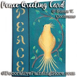 Peace Greeting Card ePattern - Susan Cochrane