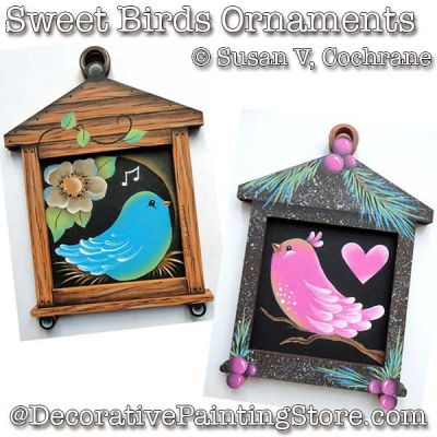 Sweet Birds Ornament ePattern - Susan Cochrane