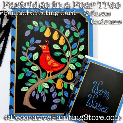 Partridge in a Pear Tree Card PDF DOWNLOAD - Susan Cochrane