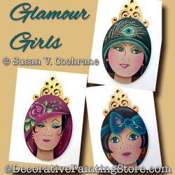 Glamour Girls Ornaments DOWNLOAD - Susan Cochrane