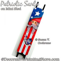 Patriotic Santa on Mini Sled DOWNLOAD - Susan Cochrane