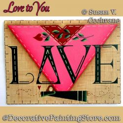 Love to You Greeting Card Painting Pattern PDF DOWNLOAD - Susan Cochrane