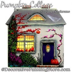 Pumpkin Cottage Painting Pattern PDF Download - Susan Cochrane