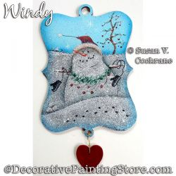 Windy (Snowman) Painting Pattern PDF Download - Susan Cochrane