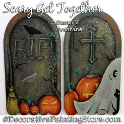 Scary Get Together Painting Pattern PDF Download - Susan Cochrane