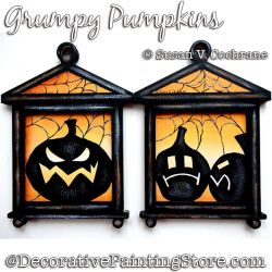 Grumpy Pumpkins Painting Pattern PDF Download - Susan Cochrane