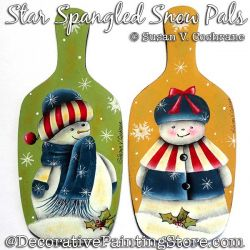 Star Spangled Snow Pals Ornaments Painting Pattern PDF Download - Susan Cochrane