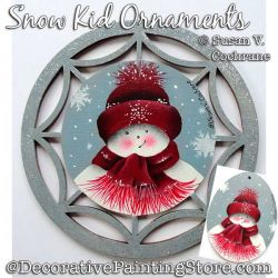 Snow Kid Ornaments Painting Pattern PDF Download - Susan Cochrane