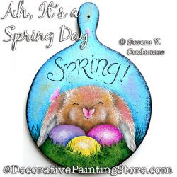 Ah Its a Spring Day (Bunny) Painting Pattern PDF DOWNLOAD - Susan Cochrane