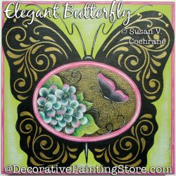 Elegant Butterfly Painting Pattern PDF DOWNLOAD - Susan Cochrane