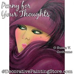 A Penny for Your Thoughts (Glamour Girl) Painting Pattern PDF DOWNLOAD - Susan Cochrane