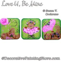 Love U - Be Mine Painting Pattern PDF DOWNLOAD - Susan Cochrane