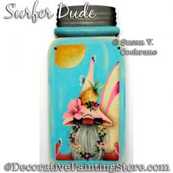 Surfer Dude Gnome Painting Pattern PDF DOWNLOAD - Susan Cochrane