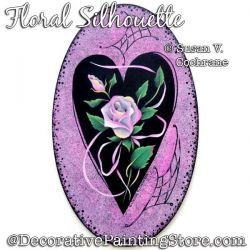 Floral Silhouette Painting Pattern PDF DOWNLOAD - Susan Cochrane