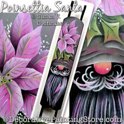 Poinsettia Santa Painting Pattern PDF DOWNLOAD - Susan Cochrane