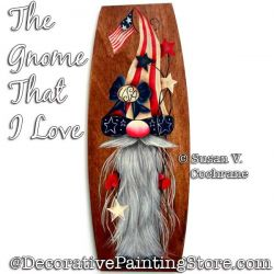The Gnome That I Love Painting Pattern PDF DOWNLOAD - Susan Cochrane