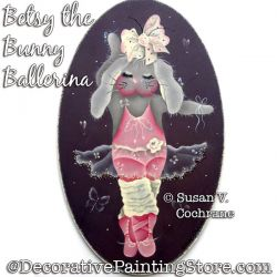 Betsy the Bunny Ballerina Painting Pattern PDF DOWNLOAD - Susan Cochrane