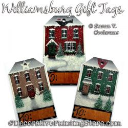 Williamsburg Gift Tags Painting Pattern PDF DOWNLOAD - Susan Cochrane