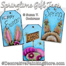 Springtime Gift Tags Painting Pattern PDF DOWNLOAD - Susan Cochrane