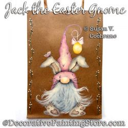 Jack the Easter Gnome Painting Pattern PDF DOWNLOAD - Susan Cochrane