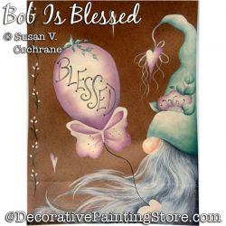 Bob Is Blessed (Gnome) Painting Pattern PDF DOWNLOAD - Susan Cochrane