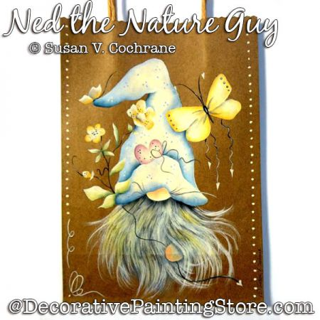 Ned the Nature Guy (Gnome) Painting Pattern PDF DOWNLOAD - Susan Cochrane