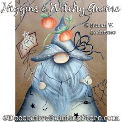 Higgins the Witchy Gnome Painting Pattern PDF DOWNLOAD - Susan Cochrane