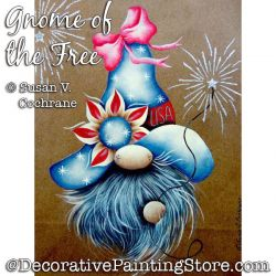 Gnome of the Free Painting Pattern PDF DOWNLOAD - Susan Cochrane