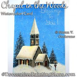 Chapel in the Woods Greeting Card Painting Pattern PDF DOWNLOAD - Susan Cochrane