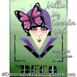 Millie My Lavender Girl Painting Pattern PDF DOWNLOAD - Susan Cochrane
