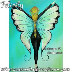 Felicity (Butterfly Fairy) Painting Pattern PDF DOWNLOAD - Susan Cochrane