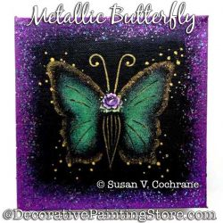 Metallic Butterfly Painting Pattern PDF DOWNLOAD - Susan Cochrane