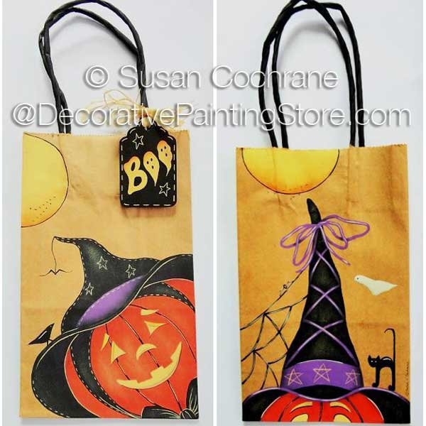 Bags and Tags Halloween Painting Pattern PDF Download- Susan Cochrane