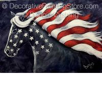 Flying the Flag Horse ePattern - Debbie Cushing - PDF Download