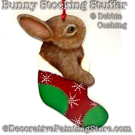 Bunny Stocking Stuffer Ornament Download - Debbie Cushing
