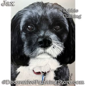 Jax (Black & White Dog) Download - Debbie Cushing
