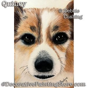 Quincy (Brown & White Dog) Download - Debbie Cushing