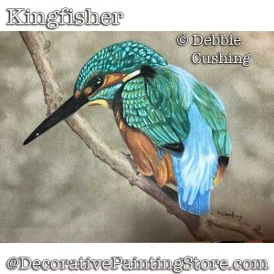 Kingfisher (Colored Pencil) Download - Debbie Cushing