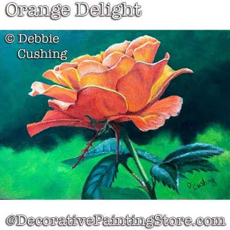 Orange Delight (Rose in Colored Pencil) Download - Debbie Cushing