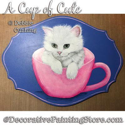 A Cup of Cute (Kitten) Download - Debbie Cushing