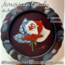 American Beauty Rose in Acrylics Download - Debbie Cushing