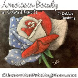 American Beauty Rose in Colored PencilDownload - Debbie Cushing